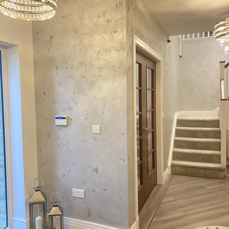 PS Plastering Services - Venetian Plaster hall way Scotland