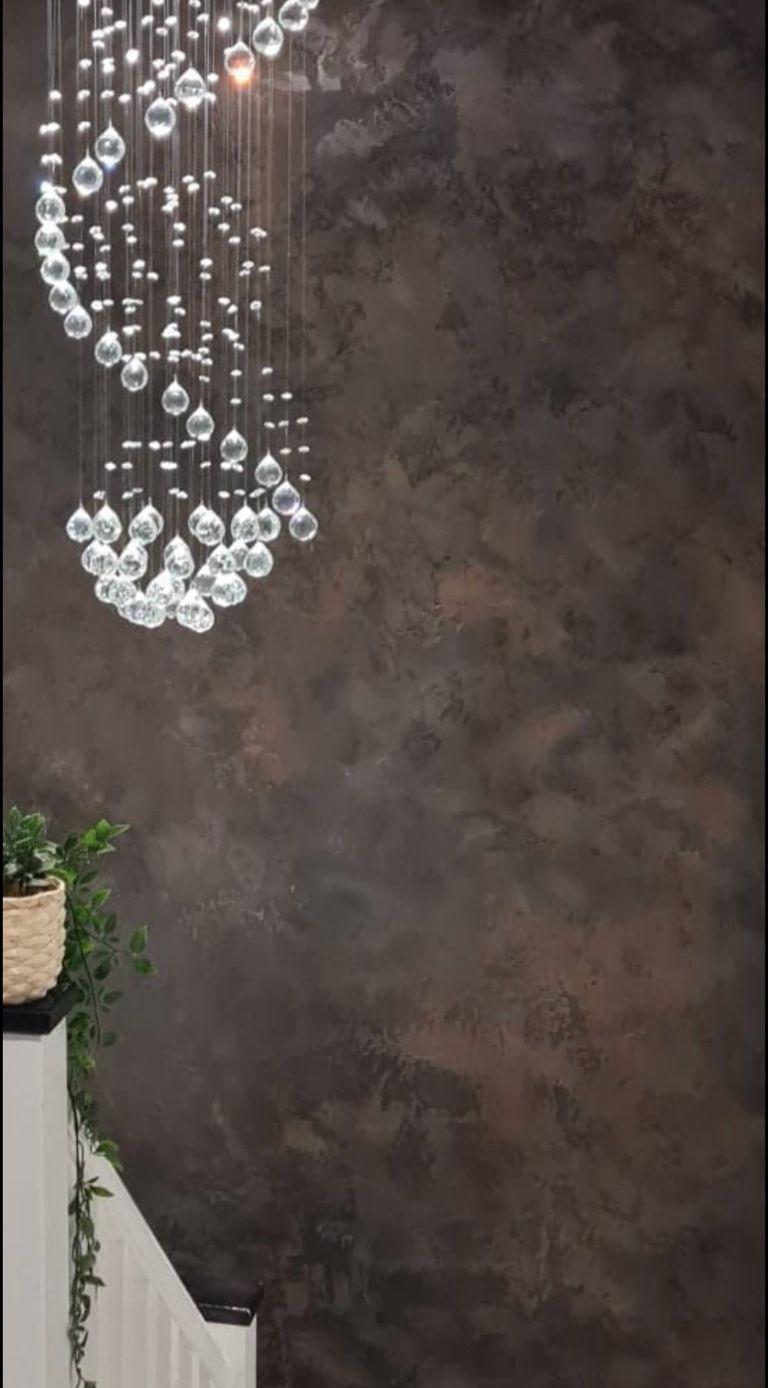 PS Plastering Services - Grey wall design Scotland