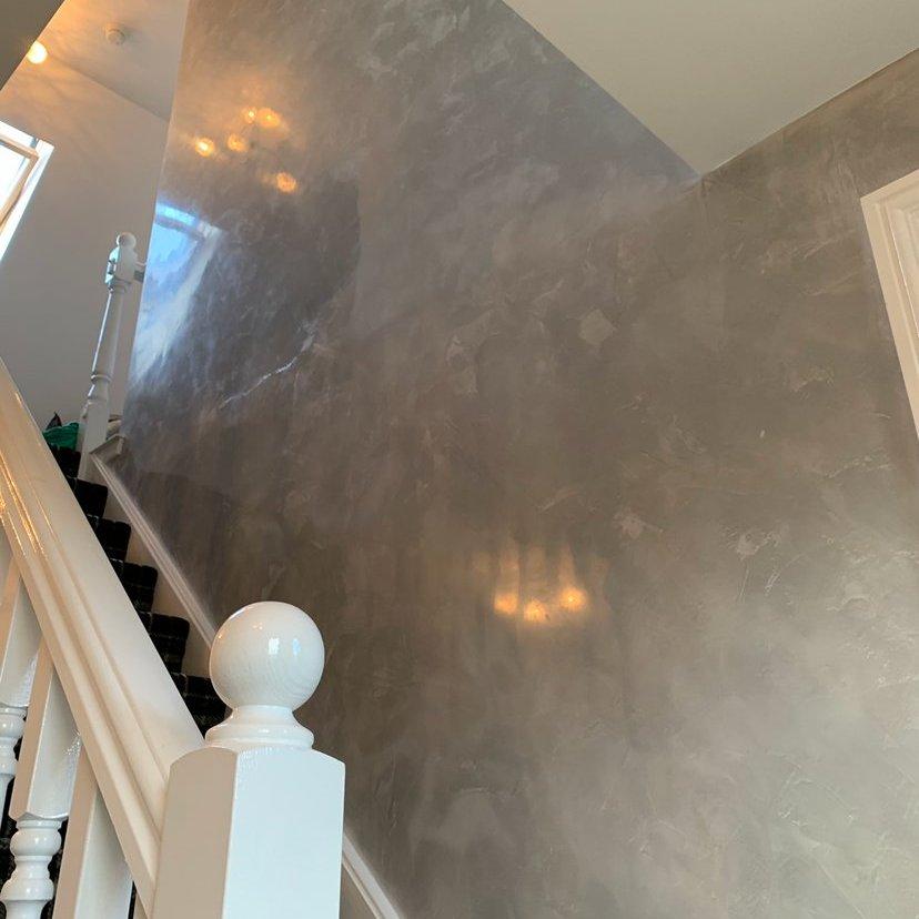 PS Plastering Services - Venetian Plaster staircase Scotland