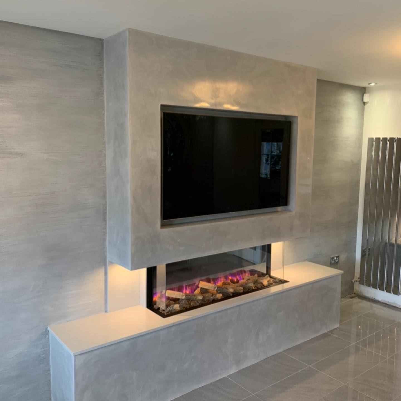PS Plastering Services - Venetian Plaster bespoke Fireplace Scotland